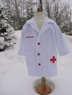 Doctor's lab coat for the dress-ups box. Used the Secret Agency Trench Coat pattern. Blogged</a