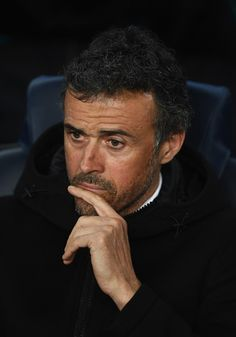 Luis Enrique manager of Barcelona looks thoughtful prior to the UEFA Champions League Round of 16 second leg match between FC Barcelona and Paris Saint-Germain at Camp Nou on March 8, 2017 in Barcelona, Catalonia.