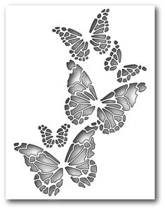 Memory Box Reverse Butterfly Collage The - Гравировка алиминий - Crafts Butterfly Stencil, Butterfly Cards, Paper Butterflies, Memories Box, Stencil Art, Stencil Designs, Stenciling, Kirigami, Collage