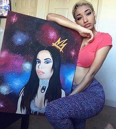Repost via Keiyani Cross  Thanks to @datyger927 for the tag!  Amazing dedication for Babygirl!  #Aaliyah #AaliyahArchives #AaliyahDanaHaughton #AaliyahHaughton #BabyGirl #Lili #Liyah #TeamAaliyah #Artwork #Art #Illustration #Canvas #Painting #HappyBirthday #HappyBirthdayAaliyah #37thBirthday