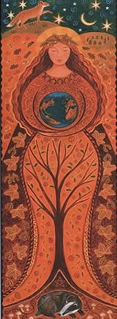 """Element Earth:  """"#Earth Goddess,"""" by Wendy Andrew."""