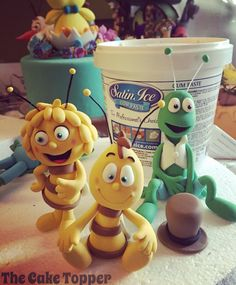 Biene Maja Figuren aus @satinfinefoods Fondant.