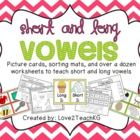 This 47 page unit teaches short and long vowels through display cards, picture cards, sortin...