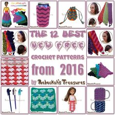 12 BEST FREE Crochet Patterns by @beckastreasures from 2016
