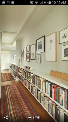 Bookshelf and artwork