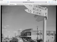 Early Cronulla with Penphrase Hardware Old Pictures, Old Photos, Arts Theatre, Australian Flags, Land Of Oz, Shopping Center, Historical Photos, Art School, Family History