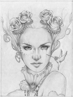 Glenn Arthur, Face Tattoo and creative additions. Art And Illustration, Colouring Pages, Adult Coloring Pages, Coloring Books, Drawing Sketches, Art Drawings, Karten Tattoos, Glenn Arthur, Frida Art
