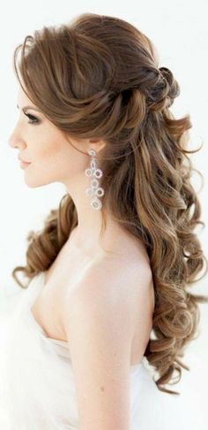 Gorgeous 38 Beautiful Wedding Bridesmaid Hairstyles for Long Hair http://inspinre.com/2017/12/07/38-beautiful-wedding-bridesmaid-hairstyles-long-hair/