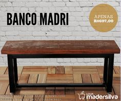 """Banco Ferro e Madeira """"Banco Madri"""""""