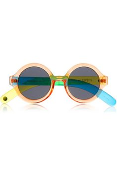 Check out + Craig & Karl Roundabout Round Frame Acetate Sunglasses by Le Specs #lespecs #colorful #acetate #neon