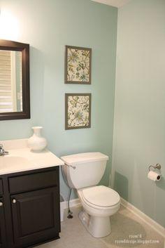 bathroom color: valspar glass tile