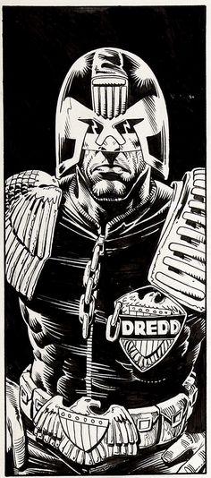 Monster Man : Judge Dredd by Brian Bolland