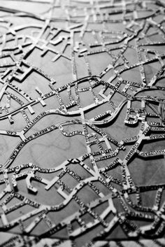 Philosopher and scientist Alfred Korzybski famously stated that the map is not the territory, asserting his view that the tools we use to represent reality can never fully equal it. Urban Island, Map Quilt, Map Projects, Contemporary Embroidery, Visual Texture, Paper Artwork, Gcse Art, Map Design, City Art
