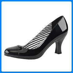 Lackpumps, Damen, Schwarz (schwarz), Größe 43 - Damen pumps (*Partner-Link)