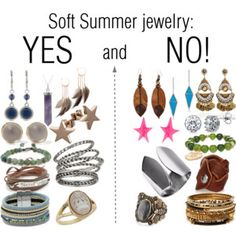 Soft Summer jewelry: YES and NO!