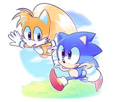 Sonic and Tails by azulila on DeviantArt