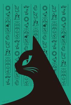 エジプト猫と日本ヒエログリフ