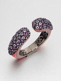 M.C.L by Matthew Campbell Laurenza Enamel Accented Semi-Precious Multi-Stone Cuff Bracelet $1,825