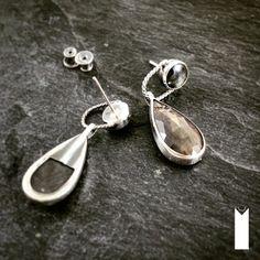 SZAFIROWA NOC | Monika Kraczek  Unique earrings with sapphires. Buy: www.monikakraczek.com