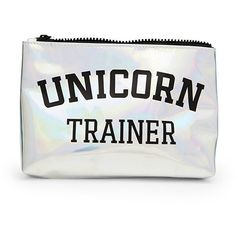 Forever 21 Unicorn Trainer Makeup Bag (49555 PYG) ❤ liked on Polyvore featuring beauty products, beauty accessories and bags & cases