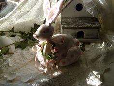 Liebliches rosa Osterhäschen von Aus dem Rosengarten auf DaWanda.com