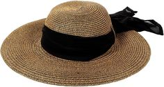Simplicity Women's Wide Brim Summer Beach Sun Straw Hats, 280_Brown
