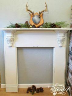 Diy faux fireplace mantel with plans 1 mantel surround, faux mantle, faux f Faux Foyer, Faux Mantle, Faux Fireplace Mantels, Diy Mantel, Candles In Fireplace, Fireplace Built Ins, Small Fireplace, Rock Fireplaces, Concrete Fireplace