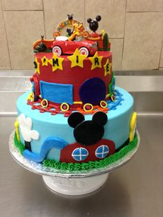 Mickey Mouse funhouse cake done in buttercream