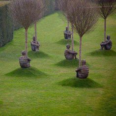 Jaume Plensa sculptures - Yorkshire Sculpture Park. How do we orient ourselves in the landscape we have created?