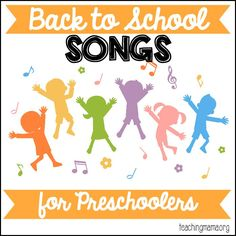 Back to School Songs for Preschoolers - 10 fun songs to begin the year with! Free printables of each song!