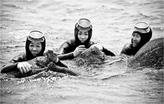They call themselves haenyo (pronounced hen-yuh), which literally means sea women and the whistling sound they made preceding their exit from the depths is called sumbisori. They are representative of a centuries old tradition, one which transformed their island in to a functioning matriarchy but a way of life which today is in danger of disappearing forever.