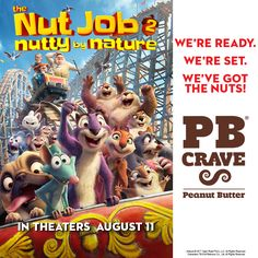 Crave like your favorite Nut Job characters this summer. Check out PB Crave in The Nut Job 2: Nutty By Nature in theaters August 11, 2017!