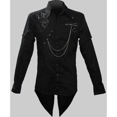 Men's gothic button-down shirt by Queen of Darkness clothing ($3.56) found on Polyvore