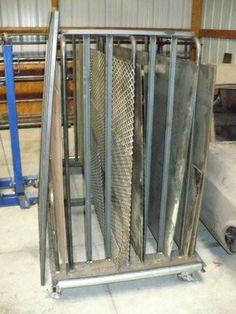 Custom Fab'ed Bead Roller Stand, Engine Stand, and Metal racks