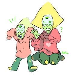 Steven Universe Personajes, Lapis And Peridot, Chibi, Lapidot, Universe Art, Cartoon Shows, Fanart, Kawaii, Spirit Animal