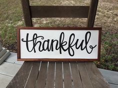 Thankful Sign, Thanksgiving Sign, Fall Sign, Farmhouse Sign, Wooden Sign, Home Decor by jgcreationsbyjg on Etsy https://www.etsy.com/listing/249160721/thankful-sign-thanksgiving-sign-fall