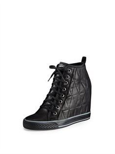Grommet Wedge Sneaker Business Chic, Fresh Kicks, Trendy Shoes, New Shoes, High Top Sneakers, Wedges, Ankle, Accessories, Shopping
