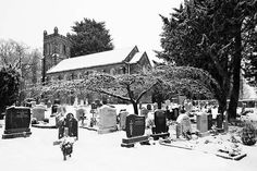 St Mary's Church Yard In The Snow - Clonsilla - Dublin Print by Barry O Carroll Dublin City, Black And White Photography, Fine Art America, Saints, Instagram Images, Mary, Snow, Gallery, Outdoor