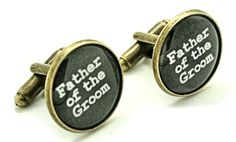 Father of the Groom Wedding Day Cufflinks. Great father in law gift