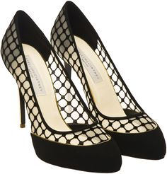 Stella McCartney Lattice Pump with Gold Hee