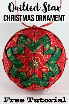 Quilted Star Christmas Ornament - It's So Corinney