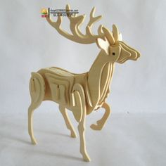 New fancy Intelligent educational toy 3D animal model WOODEN PUZZLE DIY WOODCRAFT CONSTRUCTION KIT handmade DEER W A004-in Puzzles from Toys & Hobbies on Aliexpress.com