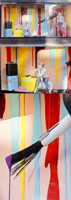 Selfridges Beauty Workshop windows by Studio XAG, London  Tomado de: http://retaildesignblog.net