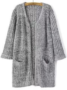 Shop Grey Long Sleeve Pockets Knit Cardigan online. SheIn offers Grey Long Sleeve Pockets Knit Cardigan & more to fit your fashionable needs.