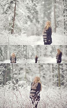 winter maternity pics outside | Found on erinwallis.com
