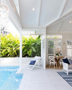 Having a pool sounds awesome especially if you are working with the best backyard pool landscaping ideas there is. How you design a proper backyard with a pool matters. Pool House Designs, Backyard Pool Designs, Fun Backyard, Backyard Pools, Outdoor Rooms, Outdoor Living, Indoor Outdoor, Hampton Pool, Pool House Decor