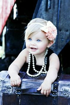 proud of her pearls!