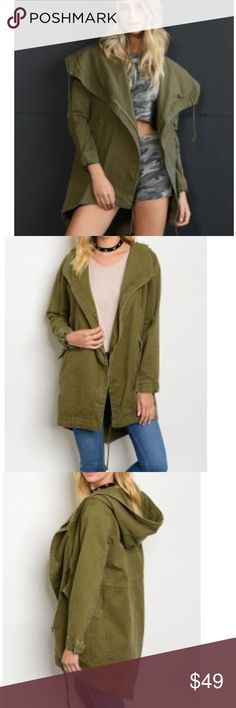 🍂Arriving🍂 Olive Utility Jacket Beautiful staple for this season!! 🍂 Add this jacket to your closet!!! Perfect warmth!! So many styling options!! 🍂 100% Cotton! 🍁Arriving this week! Size Availability Small (3) Medium (2) Large (1) HipFinds Jackets & Coats Utility Jackets