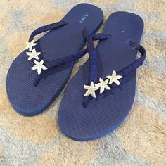 Custom starfish flip flops Purchased on etsy for bridesmaid dress worn for a few hours! Old Navy Shoes Sandals