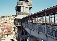 Elevador da Santa.Justa Lisbon - Szukaj w Google Portugal, Gustave Eiffel, Louvre, Hotels, Vacation, Mansions, House Styles, Building, Travel